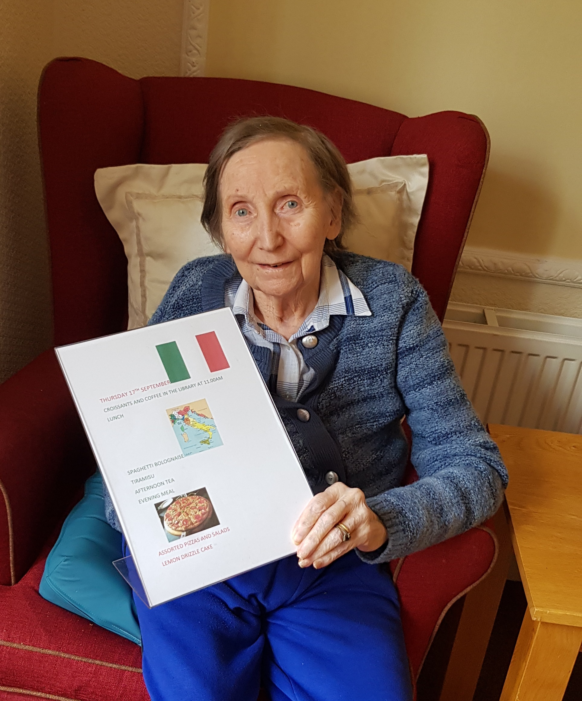 Care home residents experience joys of Italy in the comfort of their own lounge