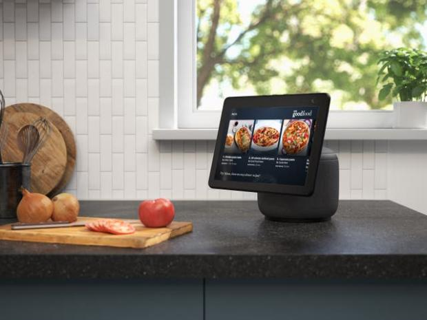 Warrington Guardian: The new Echo Show screen can swivel to follow the user. Picture: Amazon