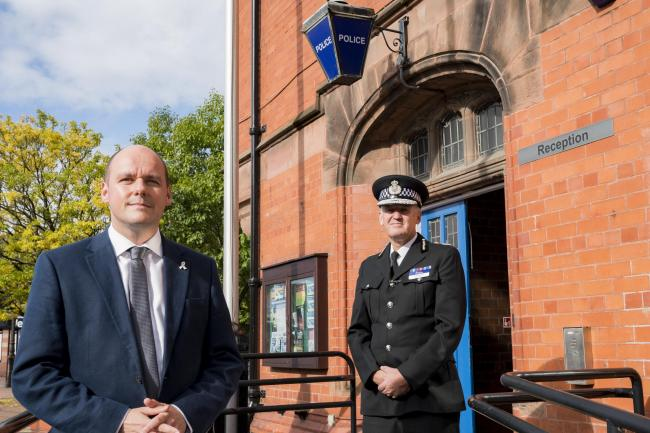 Cheshire police and crime commissioner David Keane and Cheshire Police chief constable Darren Martland