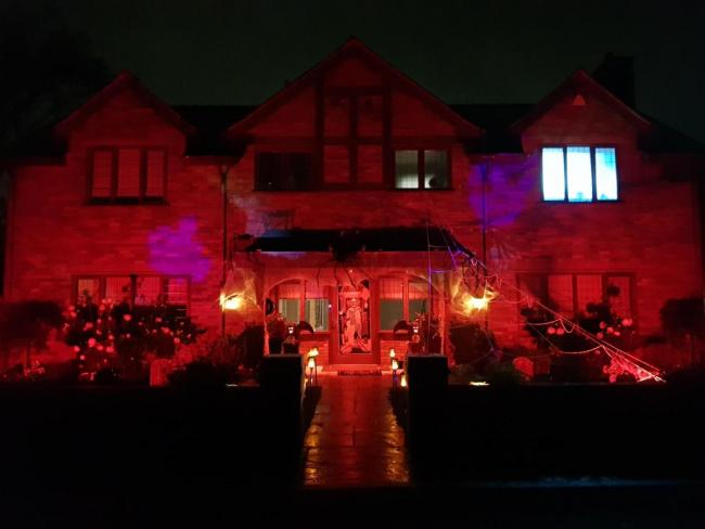 Andy Czyzewski has transformed his home in Deans Wharf into a Halloween spectacular