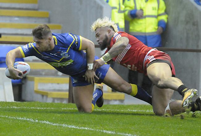 Matty Russell during his last season with Warrington Wolves. Picture: Mike Boden