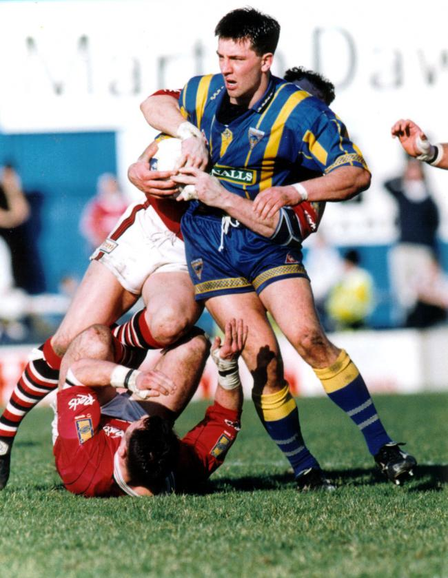 Paul Sculthorpe in action during his Warrington Wolves days