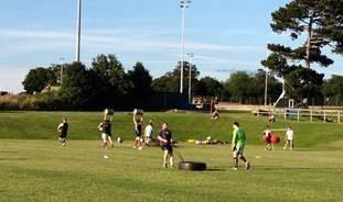 Lymm RFC players training during the summer