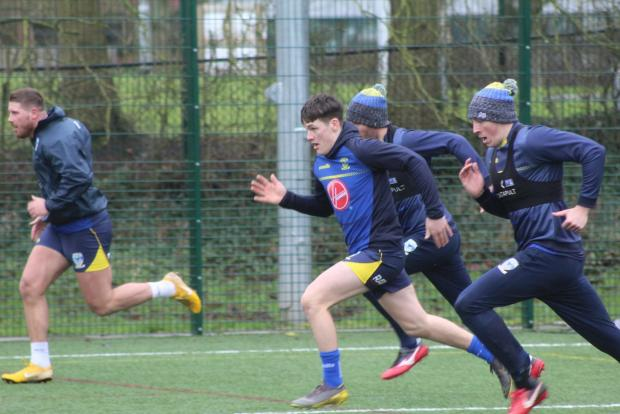 Warrington Guardian: The players go through some sprint training