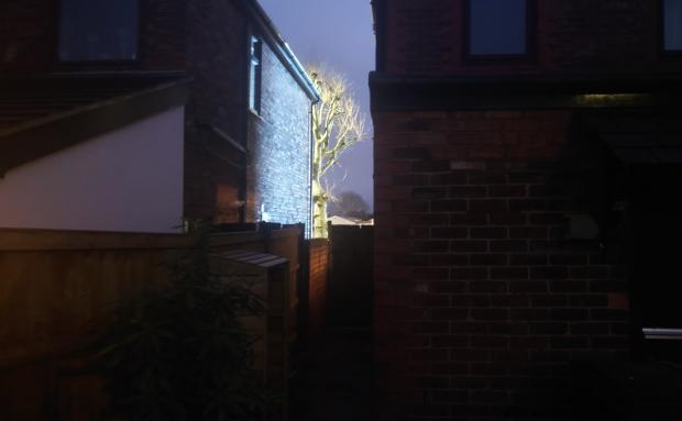 Warrington Guardian: Pictures submitted by residents show the extent of the brightness of the new digital advert in Manchester Road