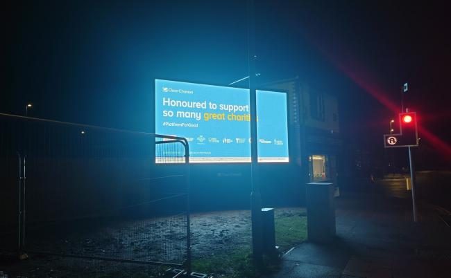 Pictures submitted by residents show the extent of the brightness of the new digital advert in Manchester Road