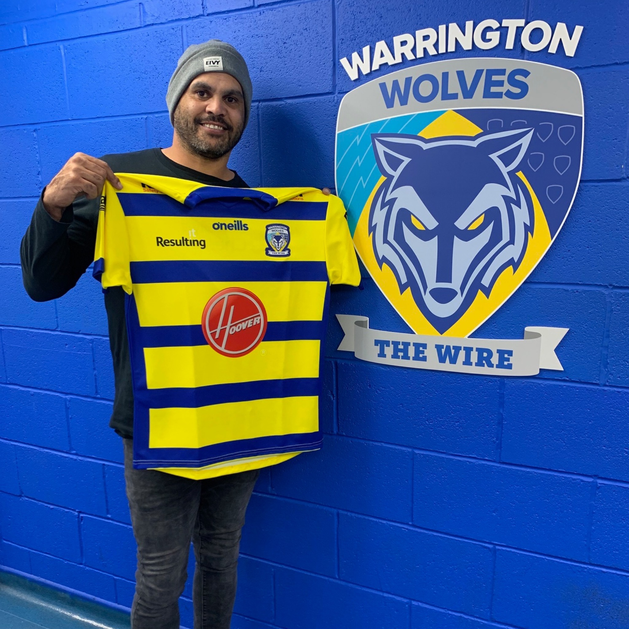 The shirt worn by Greg Inglis during the 2021 season will have the number three on the back. Picture by Warrington Wolves