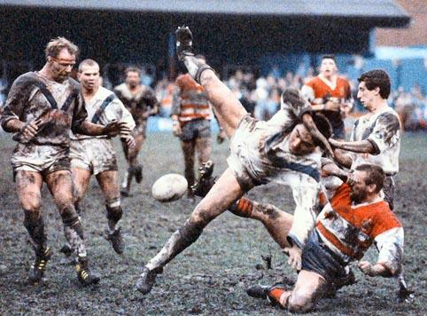 Paul Cullen in action in the mud