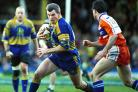 On the charge for Warrington Wolves in 1999. Picture: Mike Boden