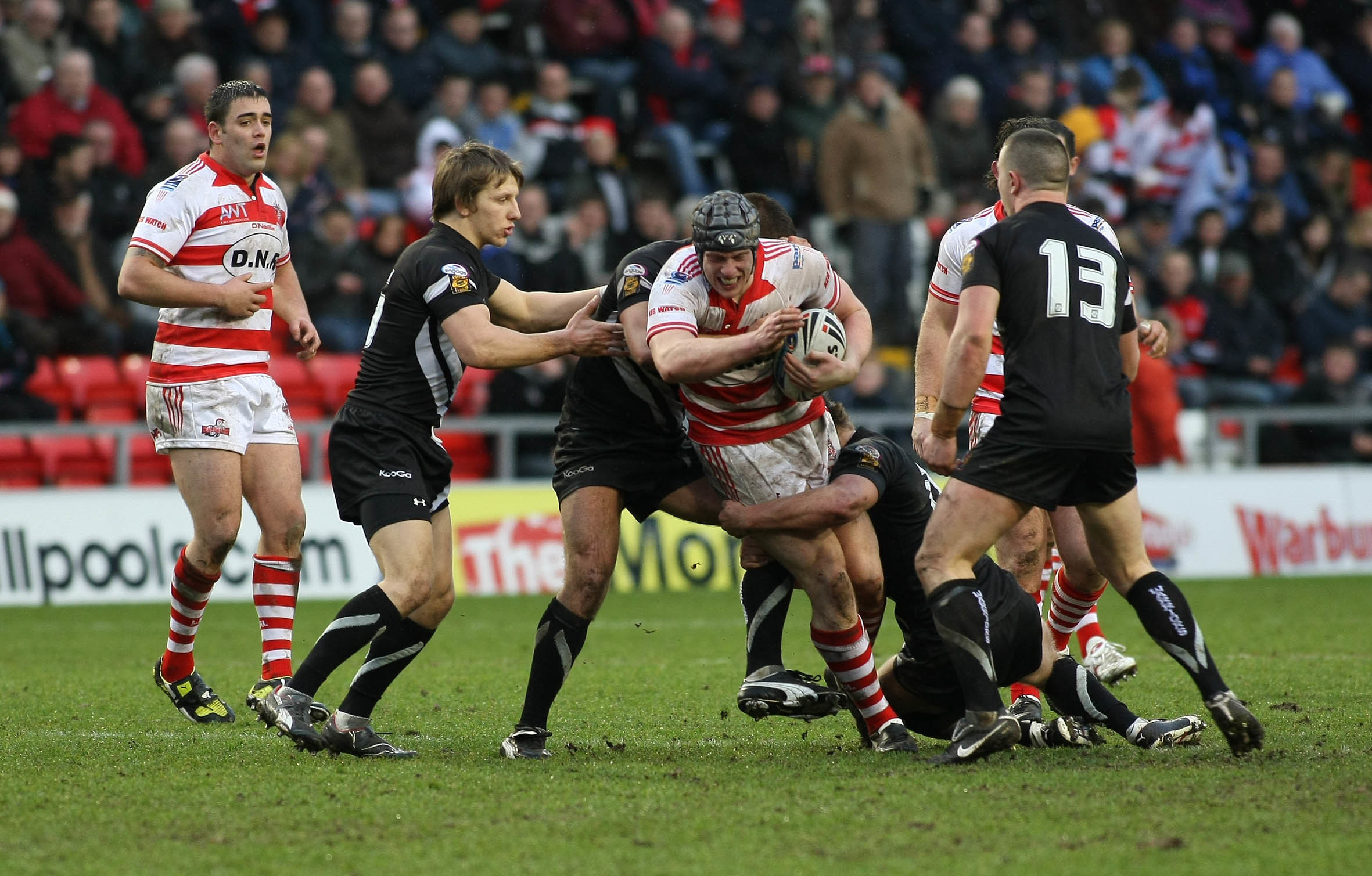 Chris Hill in action for Leigh during a pre-season clash with Wigan in 2010. Picture by Maurice Jones