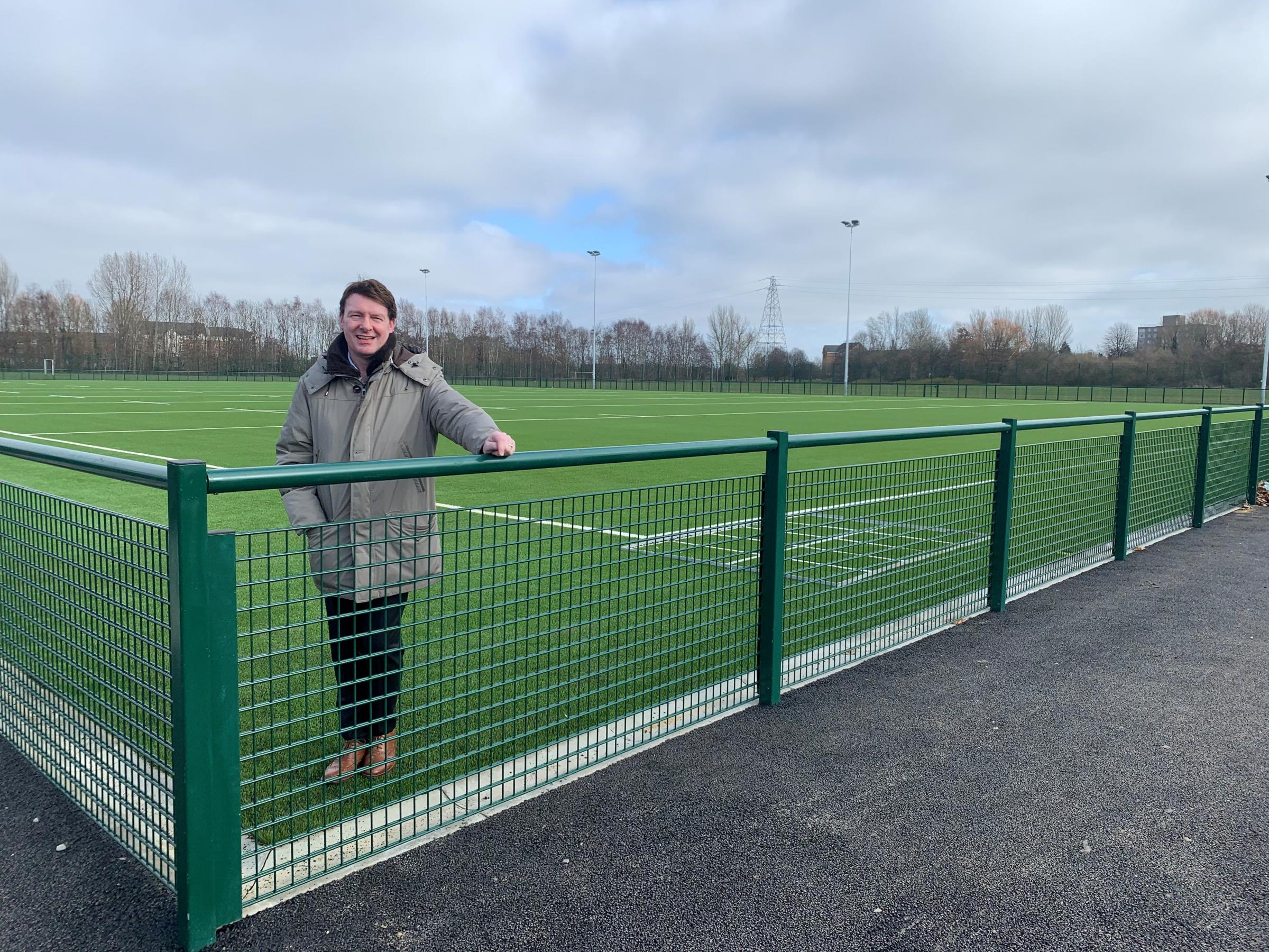 New 3G pitch in park nearing completion as part of Rugby League World Cup legacy