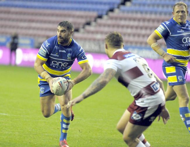 Warrington Wolves' Matty Smith during the 20-6 defeat at Wigan Warriors in August 2019