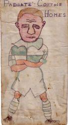 A cartoon which Gordon drew of a Padgate Cottage Homes footballer