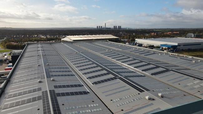 More than 4,000 solar panels fitted to Amazon Warrington warehouse roof as part of climate pledge