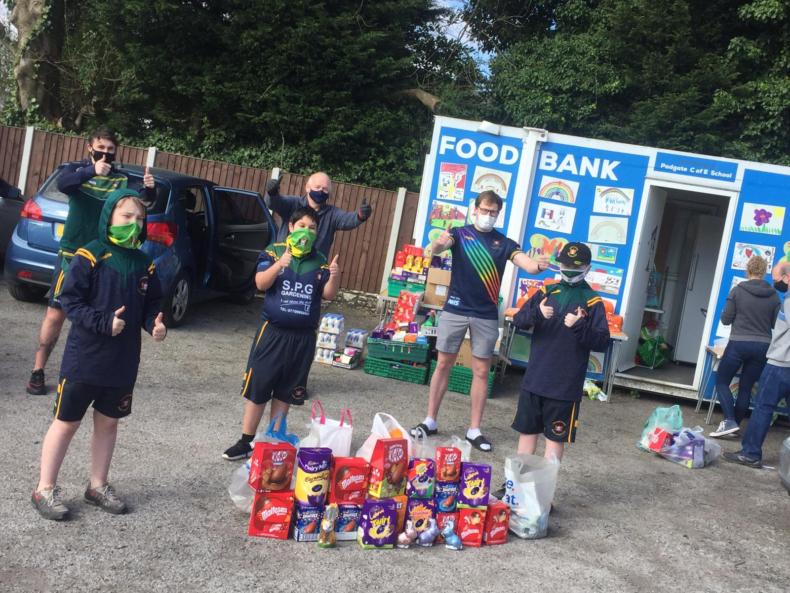 Community rugby league club donates more than 100 Easter eggs to food bank
