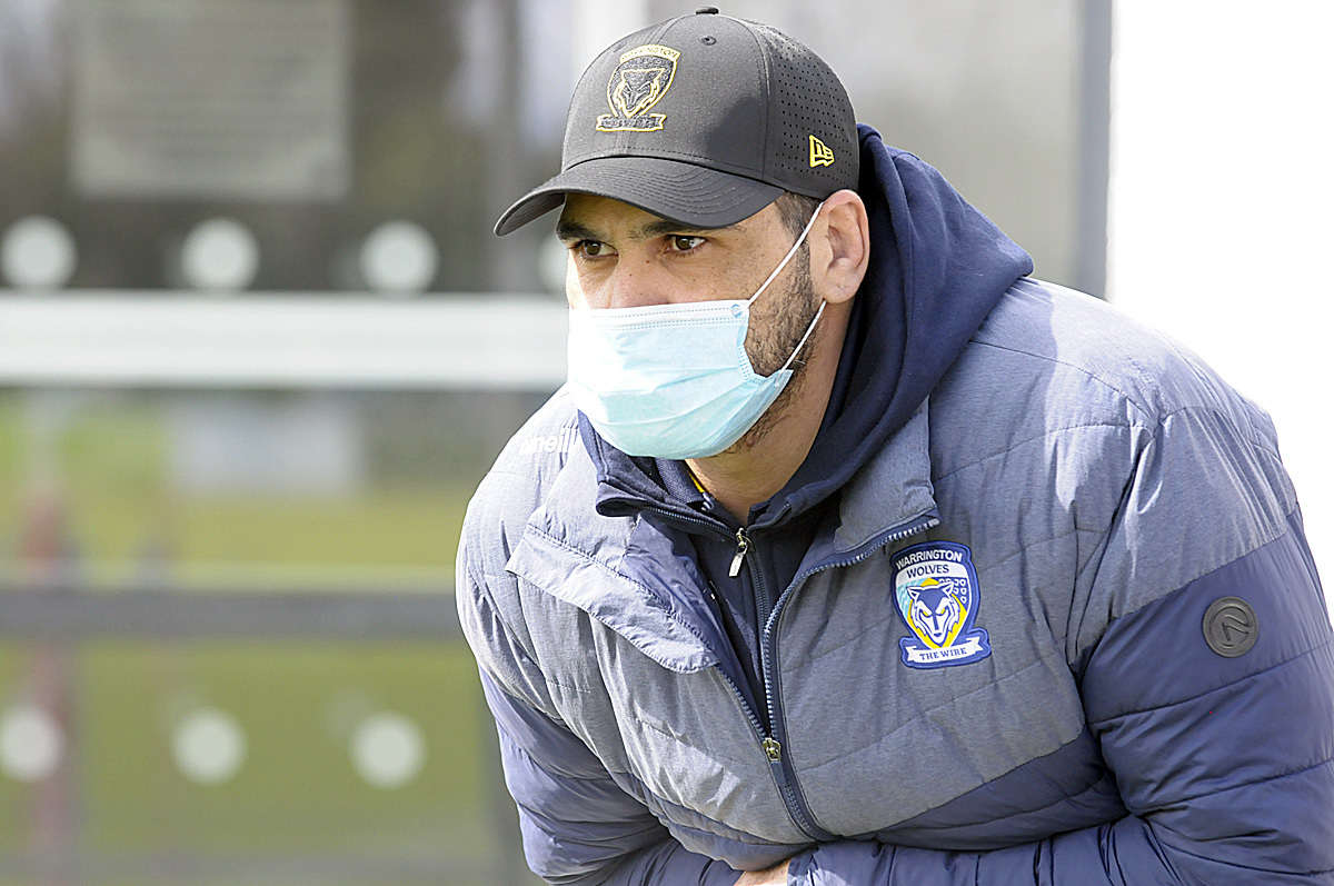 Greg Inglis will make his Warrington Wolves debut today. Picture by Mike Boden