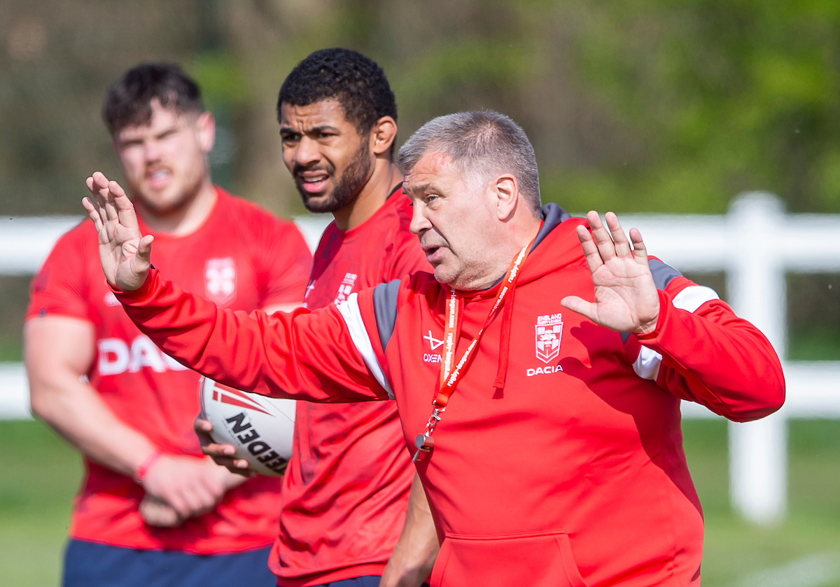 Englands first training session under Shaun Wane. Picture by SWPix.com