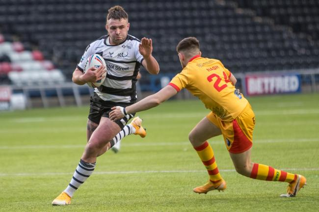 Ellis Robson in action for Widnes Vikings against Swinton Lions. Picture by Richard Walker