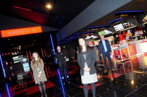 Cineworld in Time Square reopened after lockdown eased