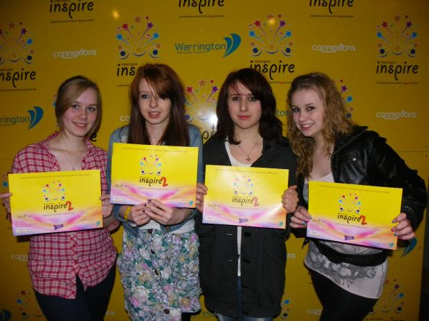 Some of the youngsters at the Inspire event