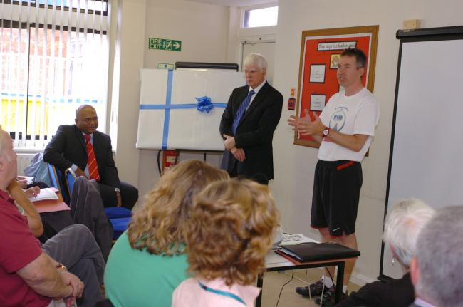 The meeting at the Eric Moore centre