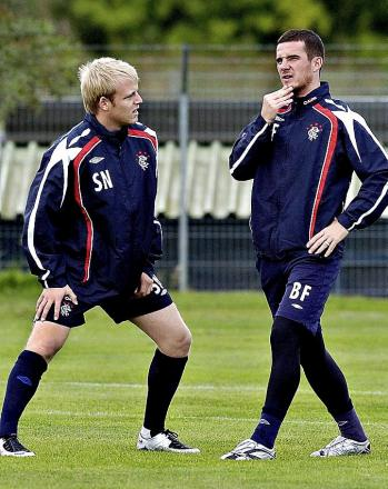 Steven Naismith pictured left with Barry Ferguson in his Rangers days