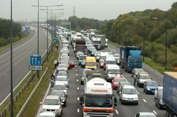 Revealed: The daily standstill on Warrington's motorways