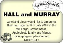 HALL MURRAY SURPRISE