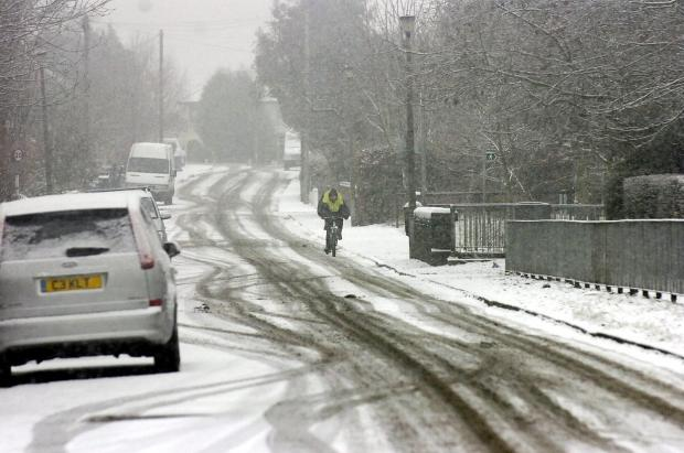 Motorists are being urged to be careful in the snow