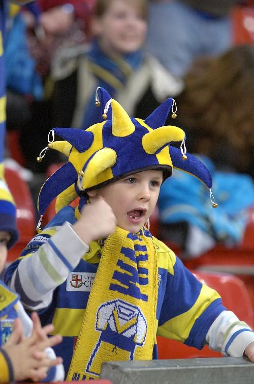 Warrington Guardian: Warrington Wolves fans at Millennium Stadium