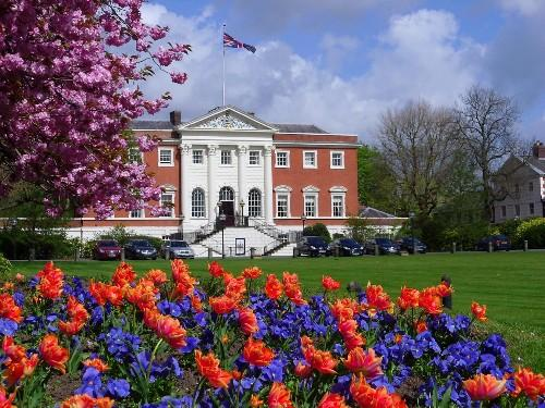 Warrington Guardian: Town Hall gardens are in full bloom