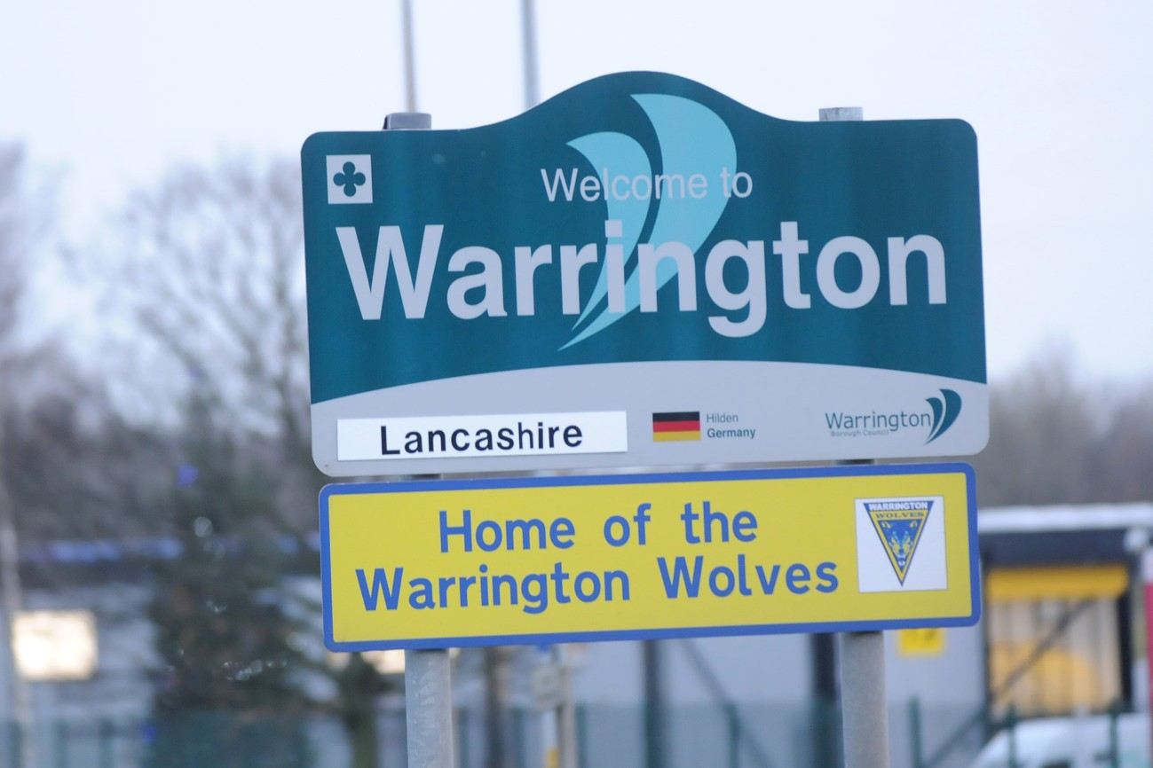 Welcome to Warrington - in Lancashire