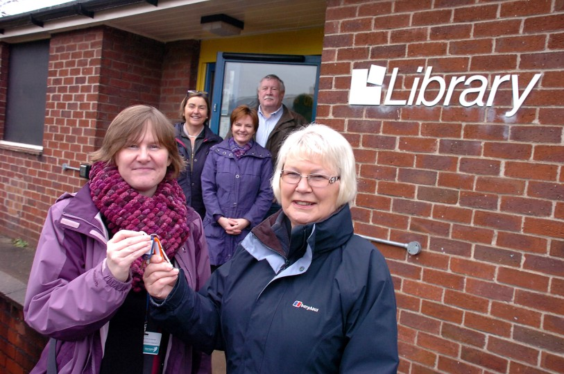 At the library are, front, Joanne Unsworth, from Warrington Borough Council, Shelia Wallace, from the Friends of Grappenhall Library and back, Sheelagh Connolly, Michaela Webb and Mick Garlick