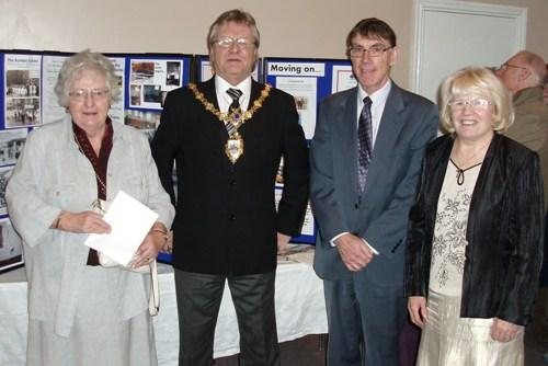 The Mayor of Warrington, Clr Mike Biggin meets with church leaders Pauline Arden, far left; Merle Astley, far right and Eric Smith who was the project manager for the renovations