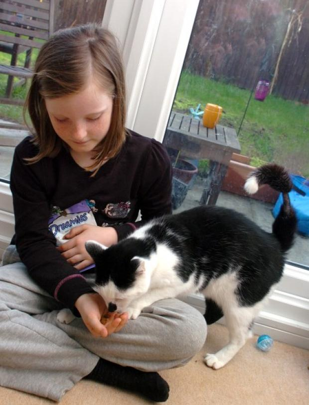 Abbie with pet cat Jackson