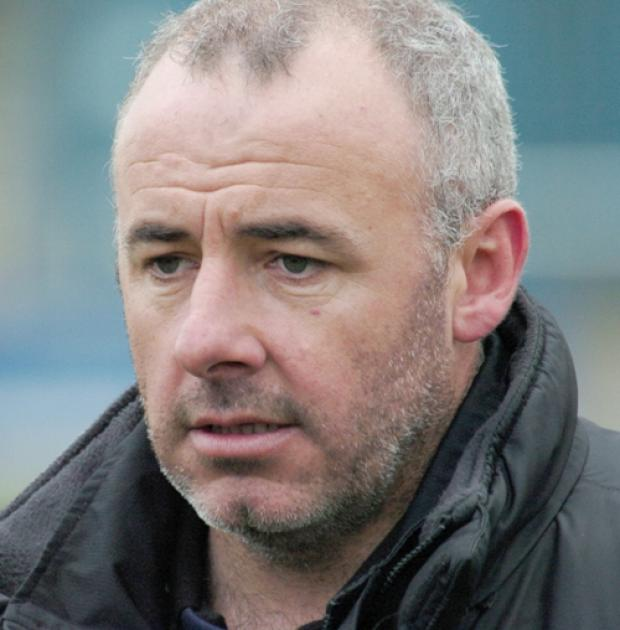 Manager Joey Dunn left Warrington Town on Monday night.	DGX290309