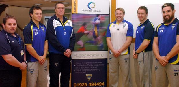 From left, Graham Murphy, curriculum manager for sport, leisure and tourism, Gareth O'Brien, Wolves coaches John Bastian, Alan Kilshaw and Ben Lazenby, and Tyrone McCarthy 	mbas130312