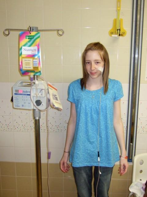 Rachael during her battle with anorexia