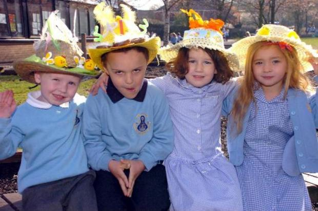 Jude Bailey, aged four, Jackson Kelly, aged five, Amelia Best, aged four, and Mia Taylor, aged five     MBA280312