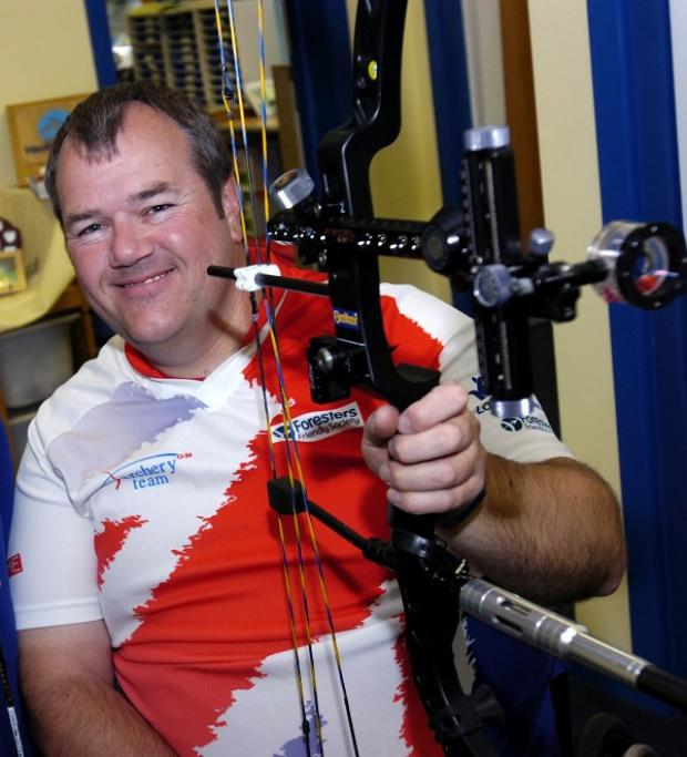 John Stubbs started his London 2012 Paralympic archery bid this afternoon, Thursday