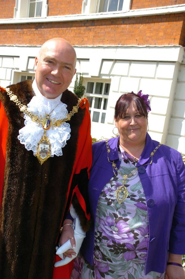 New Mayor Clr Steve Wright with Mayoress Julie