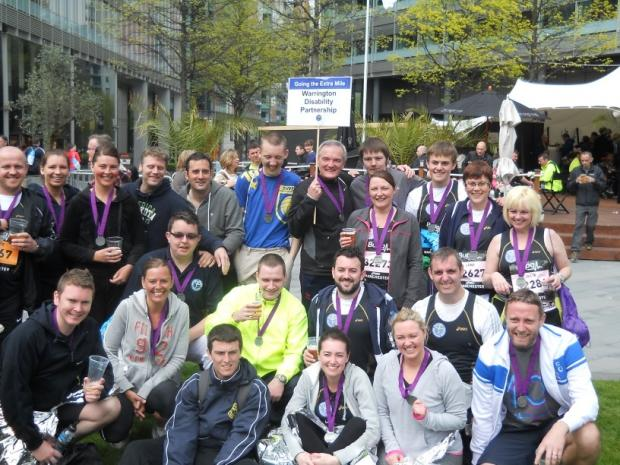 The runners from Warrington Disability Partnership