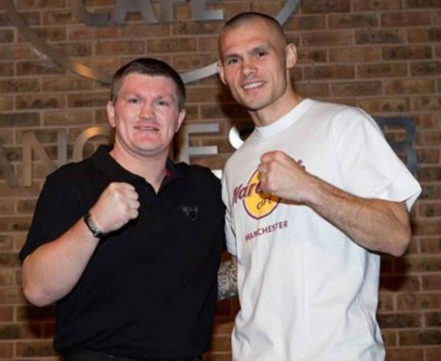 World title contender Martin Murray with promoter and former world champion Ricky Hatton