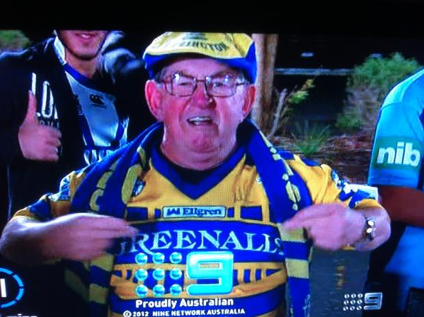 Old school fan caught on TV