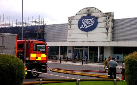 The fire at Boots last weekend