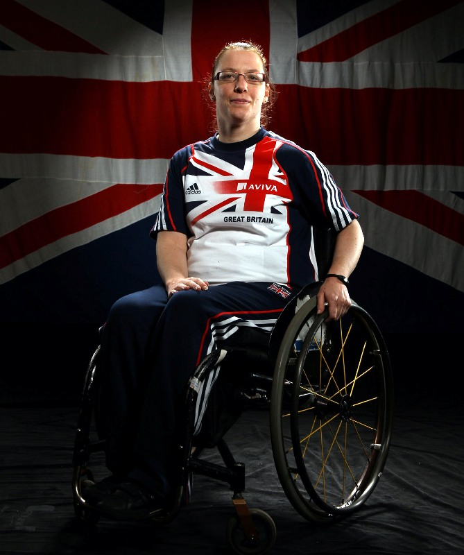 Paralympic shot putter and club thrower Gemma Prescott