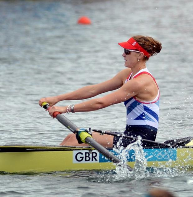 Olivia Whitlam in race mode on Lake Dorney earlier this week. Picture by Jessica Mann