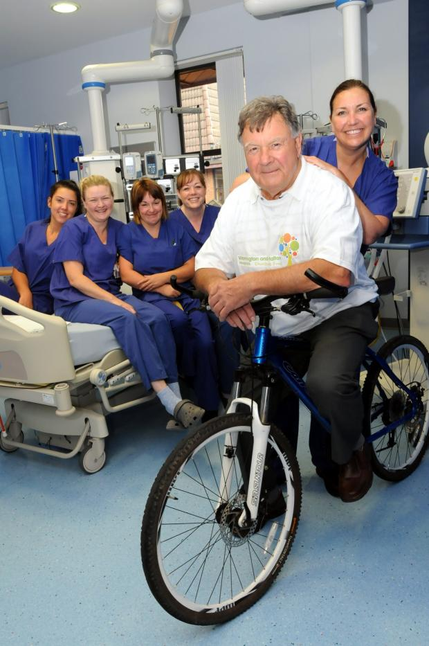 Granddad gets on his bike to help