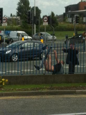Man losing pants on Winwick Road is Facebook hit