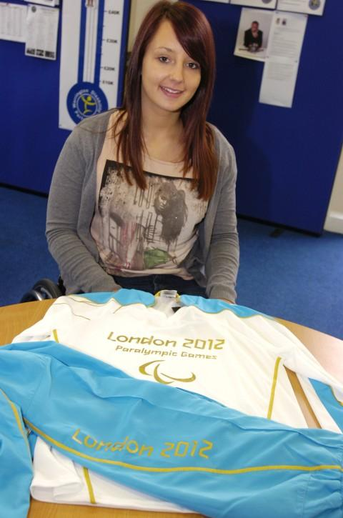 Samantha Jones with her torchbearer's shirt